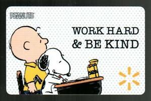 WALMART Peanuts, Charlie Brown & Snoopy at School 2021 Gift Card ( $0 )