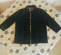 Burberry London Jacket Coat Men Wool Size 7 Gray Nova Check Lining