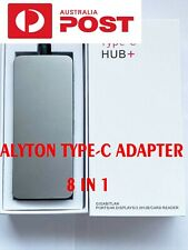 8-IN-1 Aluminum USB Type-C HUB to 4K HDMI,LAN,SD card,USB3.0 Power Charge