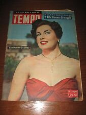italian magazine with SILVANA PAMPANINI TANIA WEBER on cover 1953 !