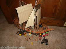 VINTAGE 3050 PLAYMOBIL DOLLHOUSE VIKING PIRATE VILLAIN SHIP BOAT VESSEL SET LOT