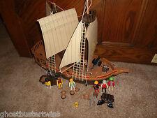 VINTAGE 3050 PLAYMOBIL DOLLHOUSE VICKING PIRATE VILLAIN SHIP BOAT VESSEL SET LOT