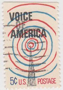 (USB264)1967 USA 5c radio tower and waves SG1309