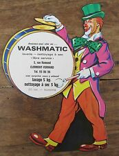 Old clown circus Chromos laundromat washmatic Clermont Ferrand