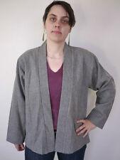 Vintage Panther Heather Grey 100% Wool Asian Style Blazer Sport Coat USA Union