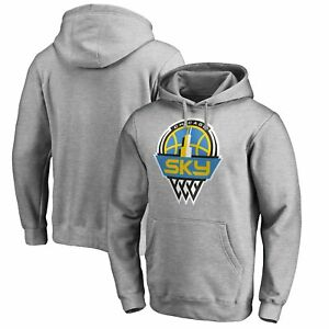 Chicago Sky Fanatics Branded Primary Logo Pullover Hoodie - Heathered Gray
