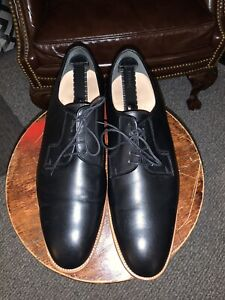 MEN'S BANANA REPUBLIC BLACK DRESS SHOES OXFORD SIZE 13 GOODYEAR WELTED