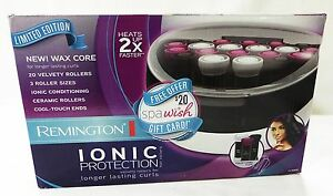 Remington hair care ionic protection limited edition ceramic rollers and clips