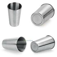 500ML Stainless Steel Cups 16oz Tumbler Pint Glasses 18/8 Metal Cold Cup BPA #SW
