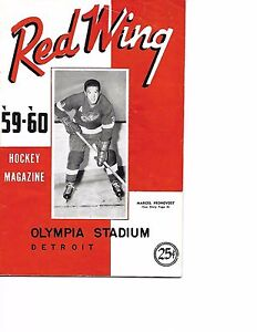 1959-60 Detroit Red Wings-Rangers Program Wings Rangers Deadlock EXCELLENT!!