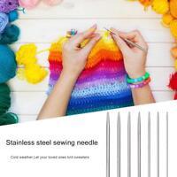 35pcs/Set 20cm Stainless Steel Straight Knitting Needles for Crochet Sewing Kits