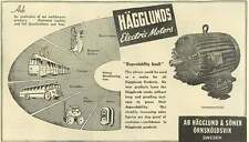 1953 Hagglunds Electric Motors Dependability Itself Sweden Ad