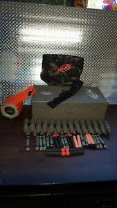 Nerf N-Strike Storage Box  Container Foot Locker Case Ammo Belt Drum Darts lot