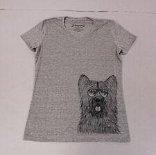 Inkopious Unisex S/S Crew Neck Alfie Norwich Terrier T-Shirt Sh3 Grey Large