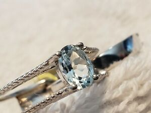 Aquamarine/Tourmaline Sterling Silver (((2 In 1))) Ring - Size 8
