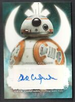 STAR WARS THE LAST JEDI AUTOGRAPH CARD #A-DCR DAVE CHAPMAN Puppeteer for BB-8