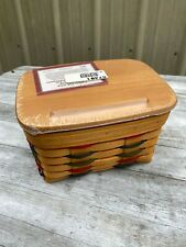 New ListingLongaberger Large Recipe Classic Basket New Never Used w/Lid and Cards