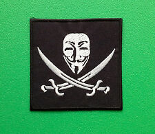 NOVELTY FANCY DRESS SEW ON / IRON ON PATCH:- ANONYMOUS (c) V FOR VENDETTA