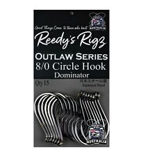 8/0 Circle Otopus Pack Hook's Offset Heavy Guage Japanase Made Reedy's