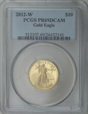 2012-W $10 Gold American Eagle - 1/4 Troy oz. Gold Content PCGS PR69DCAM