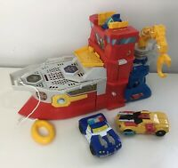 Transformers Rescue Bots Robot Boat Ship High Tide Vehicle Rig - Rare - Complete