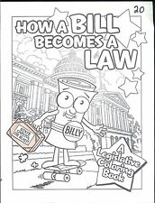 """""""HOW A BILL BECOMES A LAW"""" LEGISLATIVE COLORING BOOK  FROM RUDY BERMUDEZ"""