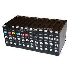 alle 12 Druckerpatronen Tintenpatronen für Canon Pixma Pro 1 PGI 29 XL mit Chip