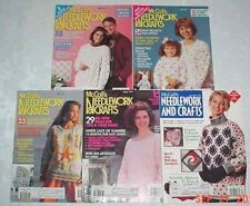McCALLS NEEDLEWORK CRAFTS 1991 LOT OF 5 SPRING SUMMER CHRISTMAS AFGHAN LACE KNIT