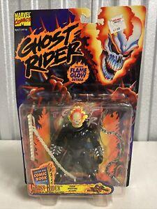 ToyBiz Ghost Rider Series 1 Action Figure Sealed 1995 Glow In The Dark Head rare