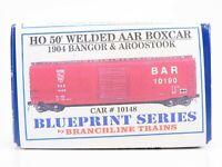 HO Scale Branchline Blueprint Kit 1904 BAR Bangor & Aroostook 50' Box Car #10148