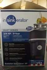 InSinkErator Evolution Spacesaver XP 3/4 HP Continuous Feed Garbage Disposal NEW