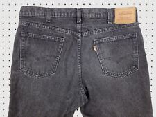LEVI'S Levis TWO-HORSE BRAND Black/Gray 38x32 (36x31.5) USA MADE Leather Tab EUC