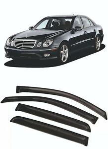 For Mercedes-Benz E W211 2002-2009 Window Visors Sun Rain Guard Vent Deflectors