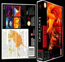 Lion King - SNES Reproduction Art Case/Box No Game.