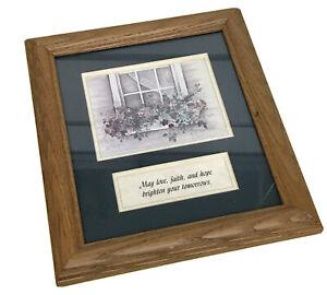 Pat Richter Longaberger Framed Print Love, Faith, Hope