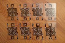 Altes transparentes Kartenspiel Spielkarten Skatspiel mit Joker Skatblatt