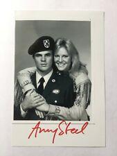 Autogramm AMY STEEL - Actress - Hör mal, wer da hämmert/Viper/Das A-Team - L@@K