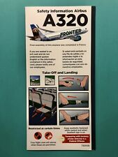 Dec 2020 Frontier Airlines Safety Card-Airbus 320- Made In France
