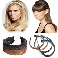 Elastic Rhinestone Synthetic Wig Hair Band Plaited Headband Braided Accessories