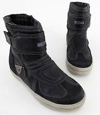 Stiefel Mustang Boots Kunstleder Reißverschluss schwarz Gr. 40