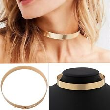 Celebrity Cool Vintage Rock punk Chic Choker Chunky Gold Collar Necklace Gifts
