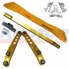 GOLD REAR SUBFRAME BRACE LOWER CONTROL ARM SET SUSPENSION KIT FOR CIVIC ACURA