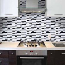 moderne mosaïque tuile autocollant amovible Mural Maison Cuisine Décor PVC
