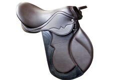 17''english brown synthetic saddle jumping all purpose saddle