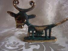 ★ Bronze Figur Stier Kuh mit antiker Patina (318)