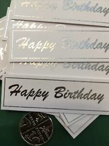 Happy Birthday X 30 Banners/embellishments/captions/toppers card Making