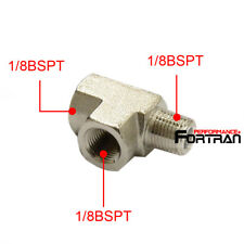 "Adapter T Tee  Fitting 1/8"" BSPT For Air Oil Water Pressure Sensor Gauge"