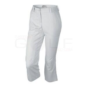 Nike Womens Modern Rise TECH CROP Pant DRI FIT GOLF PANTS 509743 100 SZ 12 WHITE