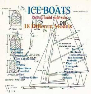 ICE BOAT PLANS, 18 Designs