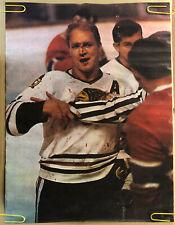 Original Vintage Poster Bobby Holt NHL Fighting Blackhawks Pin Up Head Shop 60's
